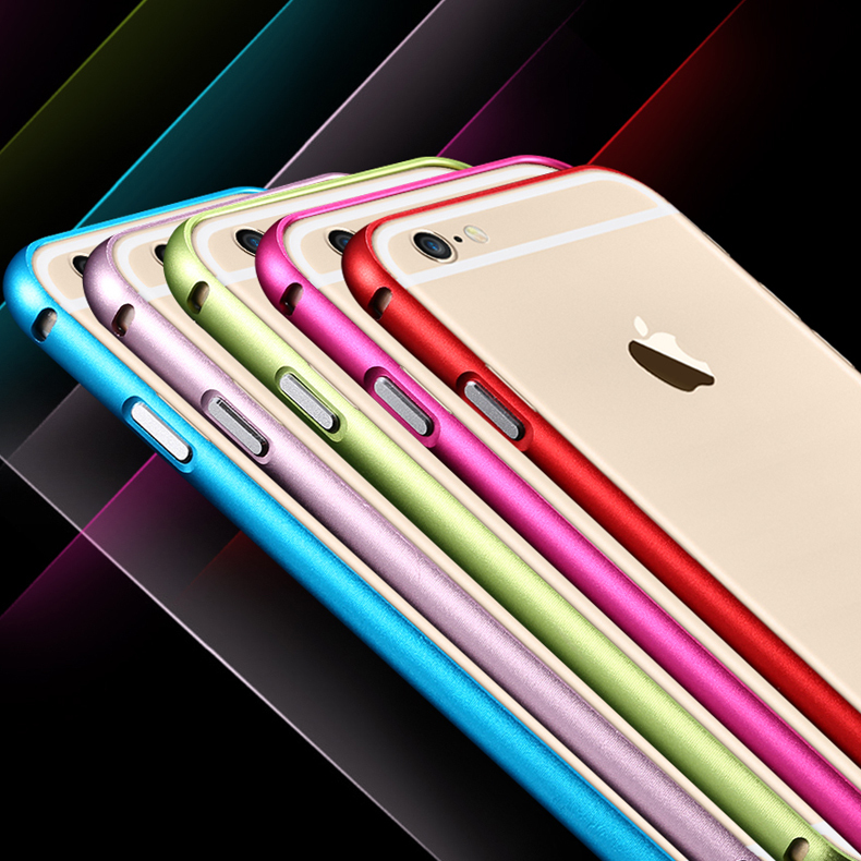 Ultra Thin Capa For Apple iPhone 6 Bumper Luxury Aluminum Metal Cell Phone Protective Cases Covers For iPhone 6 4.7''(China (Mainland))