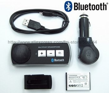 Handsfree Car Bluetooth/Multipoint Speakerphone Bluetooth/Handsfree Bluetooth Car Kit with Car Charger & 2PCS/Lot Free Shipping