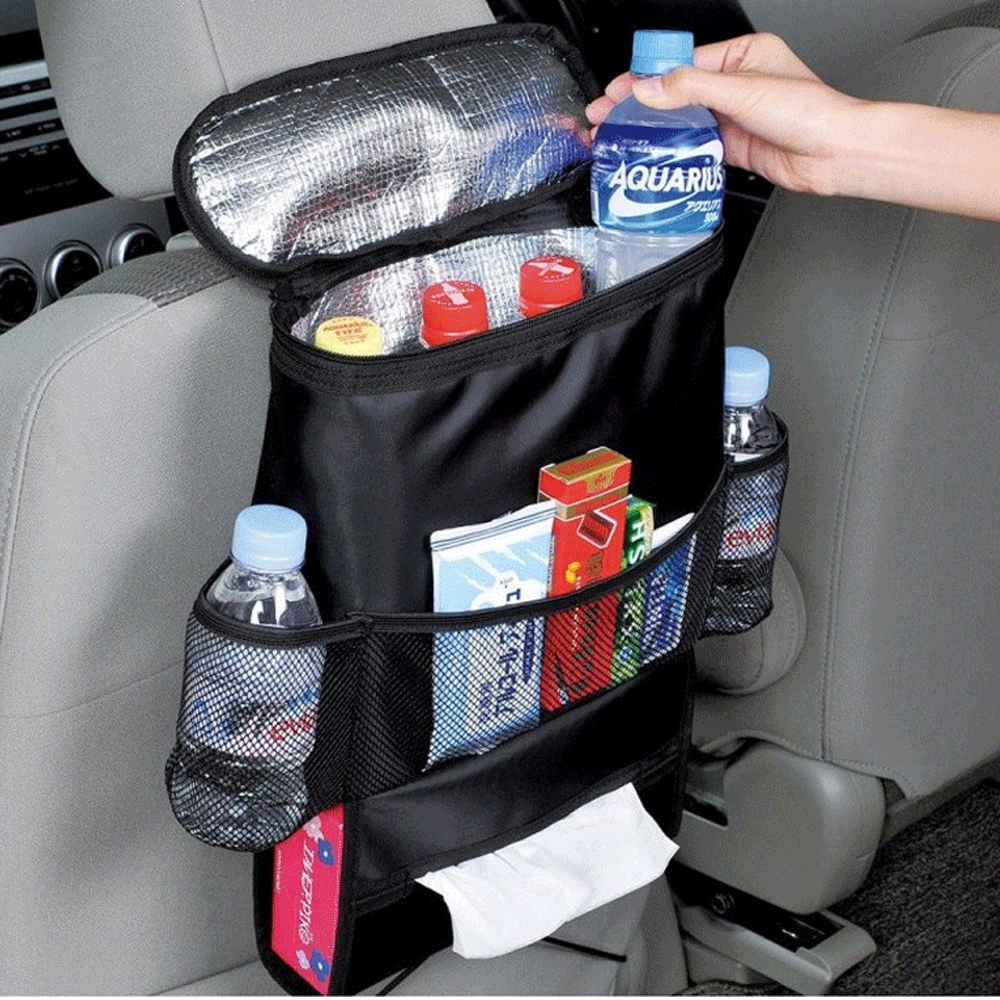 Car Durable Multifunction Organizer Bags Insulated Food Drink Back Seat Storage Container Tissue Box Bags(China (Mainland))