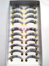 High Quality False Eyelashes Natural Mink Eyelash Extension Fake Eye Lashes Human hair Makeup 40 pairs