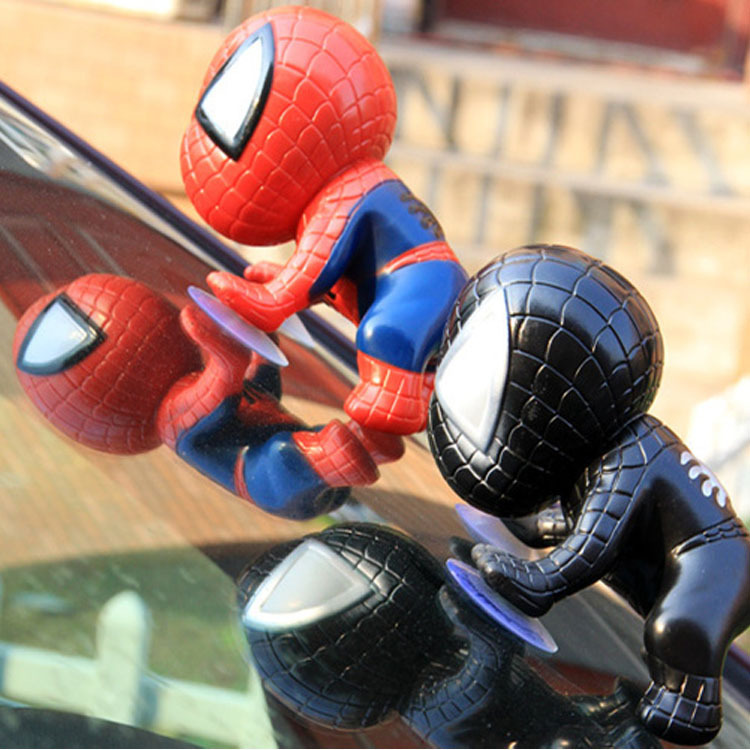 Spider Man Climbing Lovely Toy Window Sucker Spider-Man Doll Car Home Interior Decoration 360 Degrees Of Rotation()