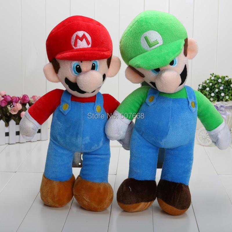 "14"" New Super Mario plush toys Mario bros Mario Luigi Soft plush doll Brothers EMS Free Shipping(China (Mainland))"