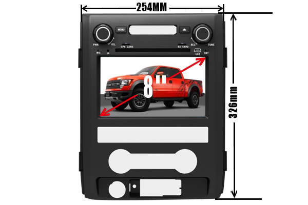 2 Din Car DVD Player Fit for FORD F150 2009-2014 Twelfth generation GPS TV 3G Radio Bluetooth Wheel control(China (Mainland))