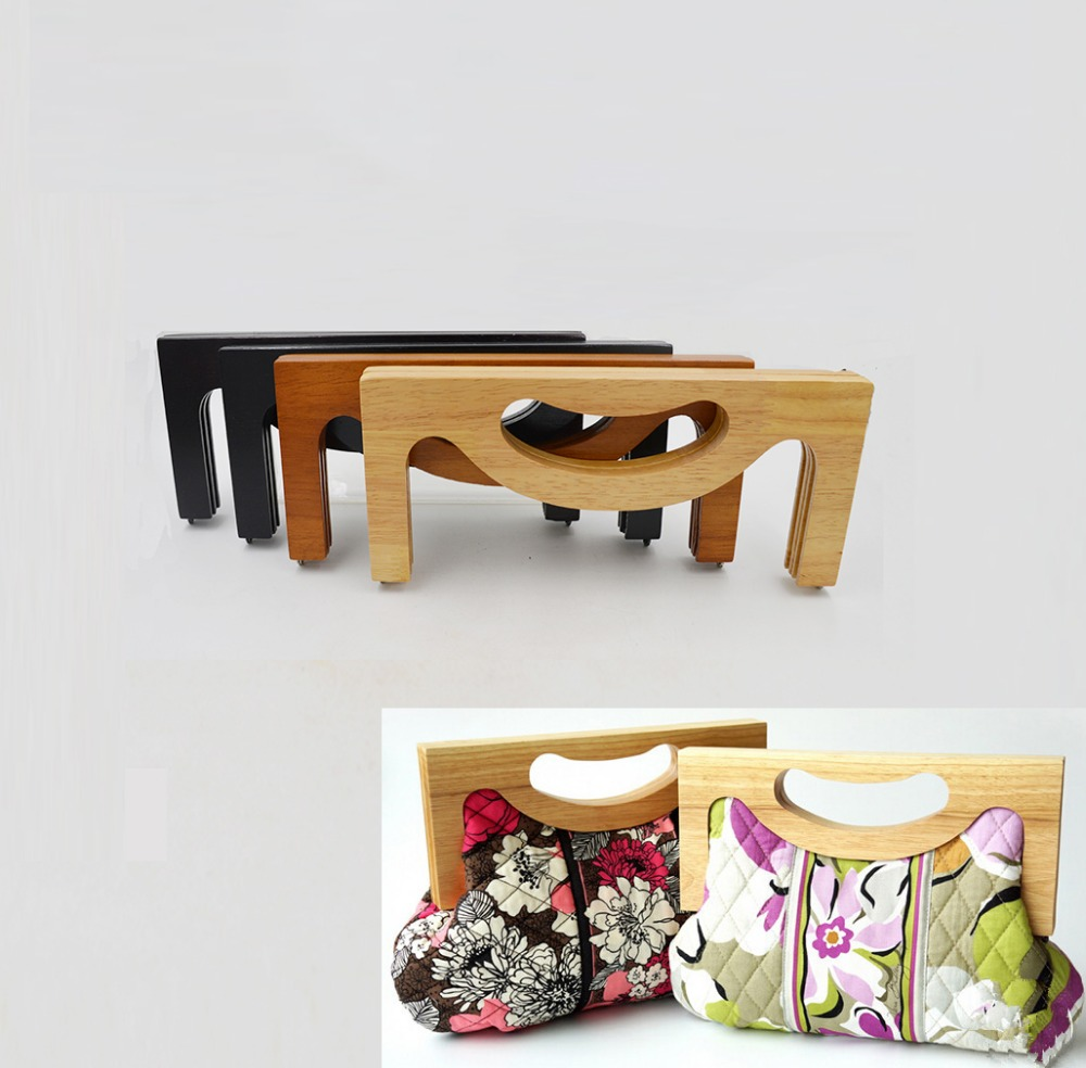 Solid Material Wooden Bag Handle Size 25*11CM Wholesale Purse Handle China Factory Aliexpress Selling Wooden Purse Frame(China (Mainland))
