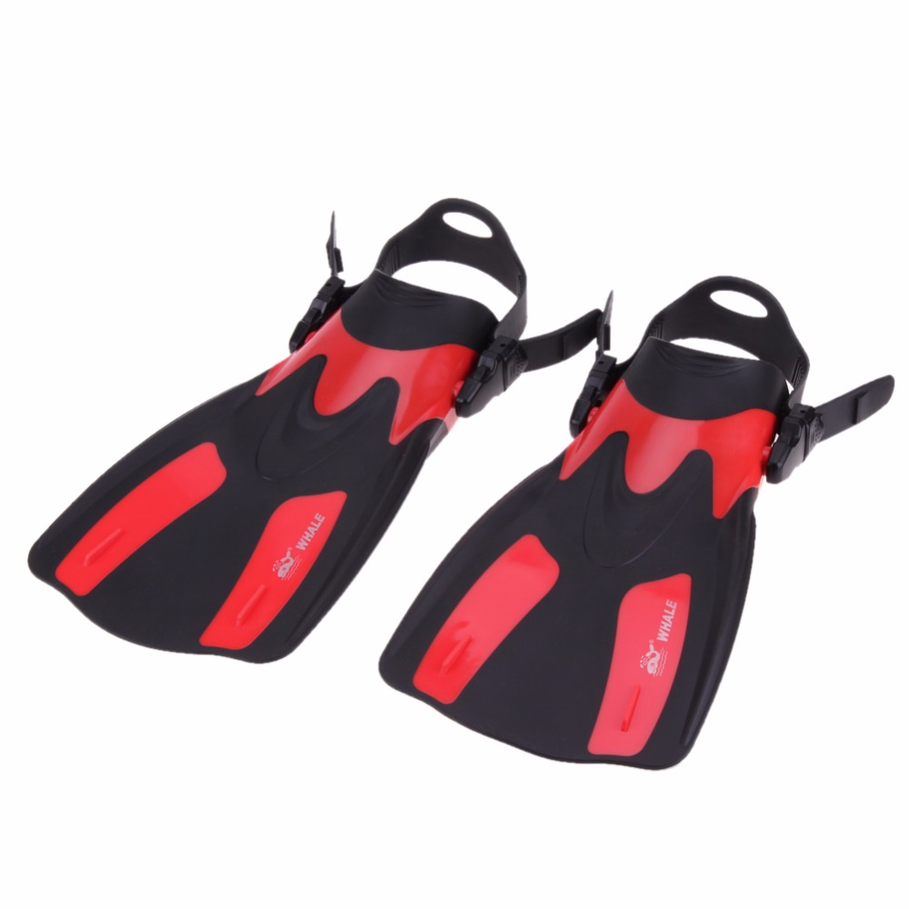 Hot sale 2PCS Adjustable Scuba Diving Fins Long Swimming Fin Webbed Snorkeling Flippers Unisex Swimming Training Equipment Shoe(China (Mainland))