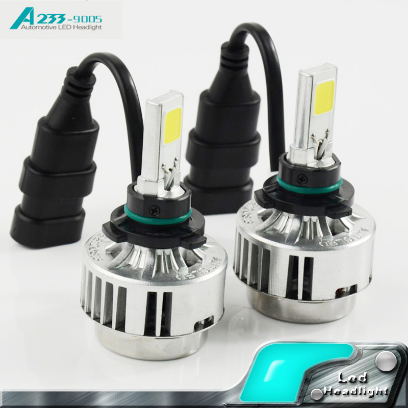 Car Headlights LED 9005 COB Kit 33W 3000LM DC 12V 3000K Yellow 6000K White Auto Front Light Fog Bulb led coches Headlamp<br><br>Aliexpress