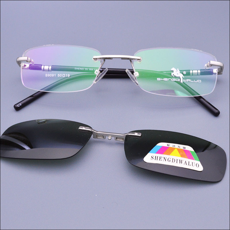 Eyeglass Frames Magnetic Sunglasses : 2015 Rimless Glasses Functional Glasses Eyeglasses Optical ...