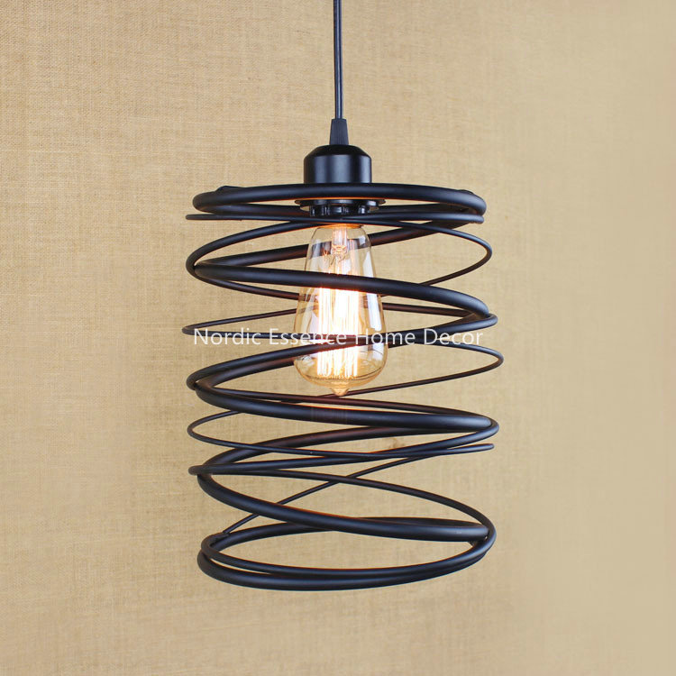 American Iron hob creative retro modern Indonesia Malaysia External Trade Nordic rural single-head LOFT chandelier pendant lamp(China (Mainland))