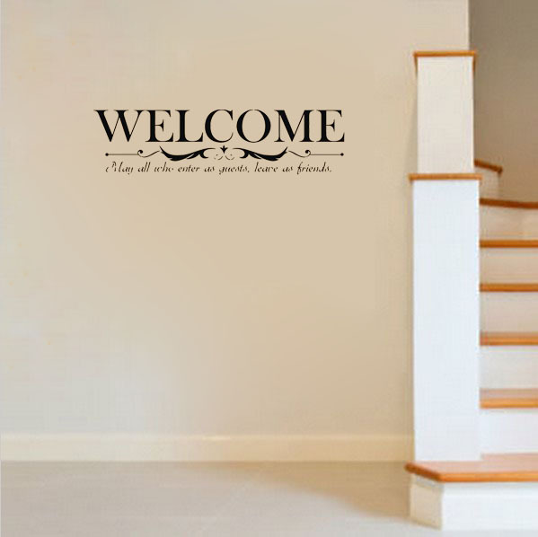 Welcome Home Quotes For Friends Friends Quote Vinyl Home