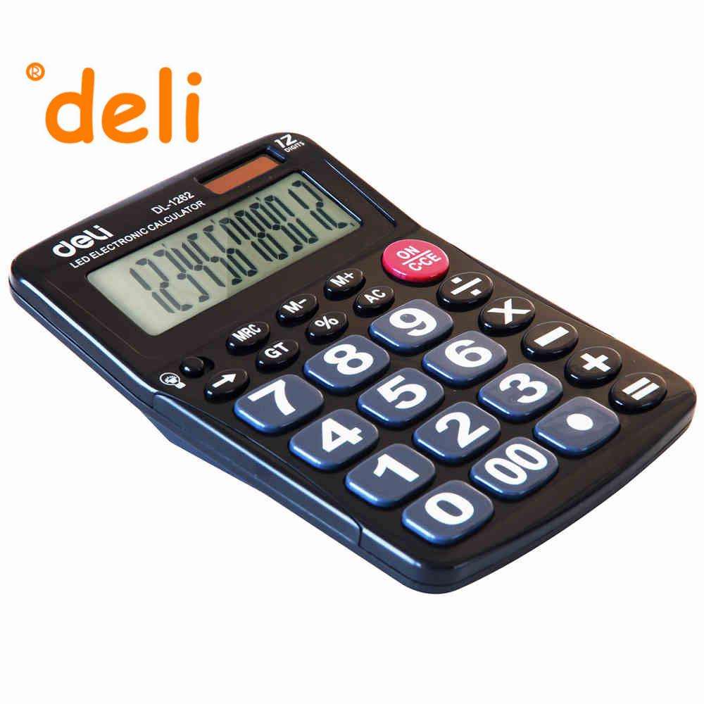 2016 LED Electronic Calculator Dual Solar with Large Display Big Buttons Desktop Calculating Light Calculadoras(China (Mainland))