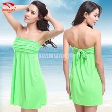 Mainland Sexy Strapless Beach Dress New 2016 Summer Dress Women Beach Dress Swimwear Pareo Beach Wear Beach Cover Up(China (Mainland))