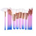New Arrival 15PCS Gradient color Face Makeup Brushes Set Pro Foundation Powder Eyeshadow Countour Lip Blush