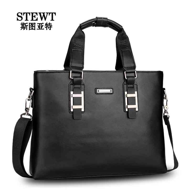 Stuart 2014 new man bag leather shoulder slung business casual with the bag man bag(China (Mainland))