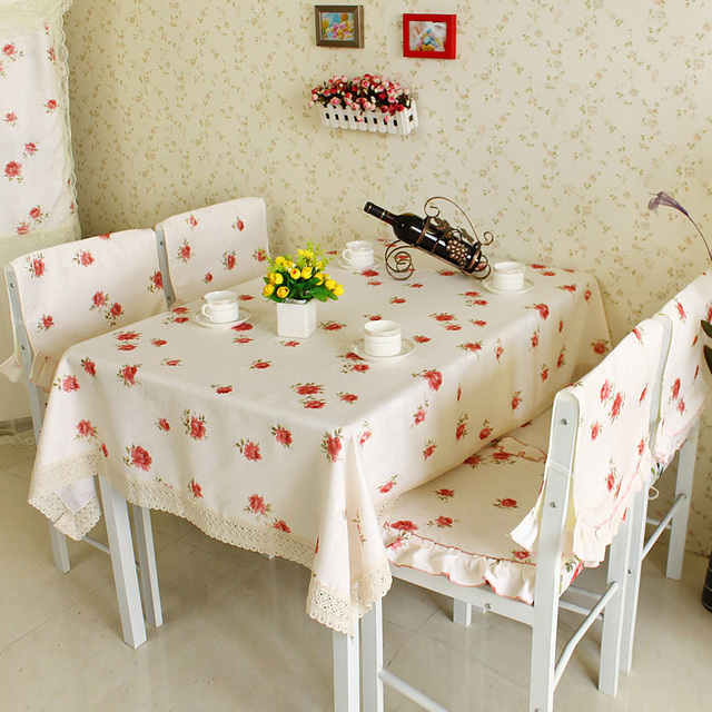 Rustic table cloth fabric dining table cloth coffee table cloth tablecloth table runner dining table chair bundle cushion flower