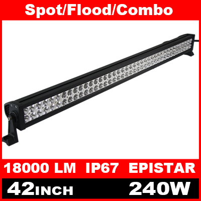 42 Inch 240W LED Light Bar for Off Road Indicators Work Driving Offroad Boat Car Truck 4x4 SUV ATV Fog Spot Flood Combo 12V 24V(China (Mainland))