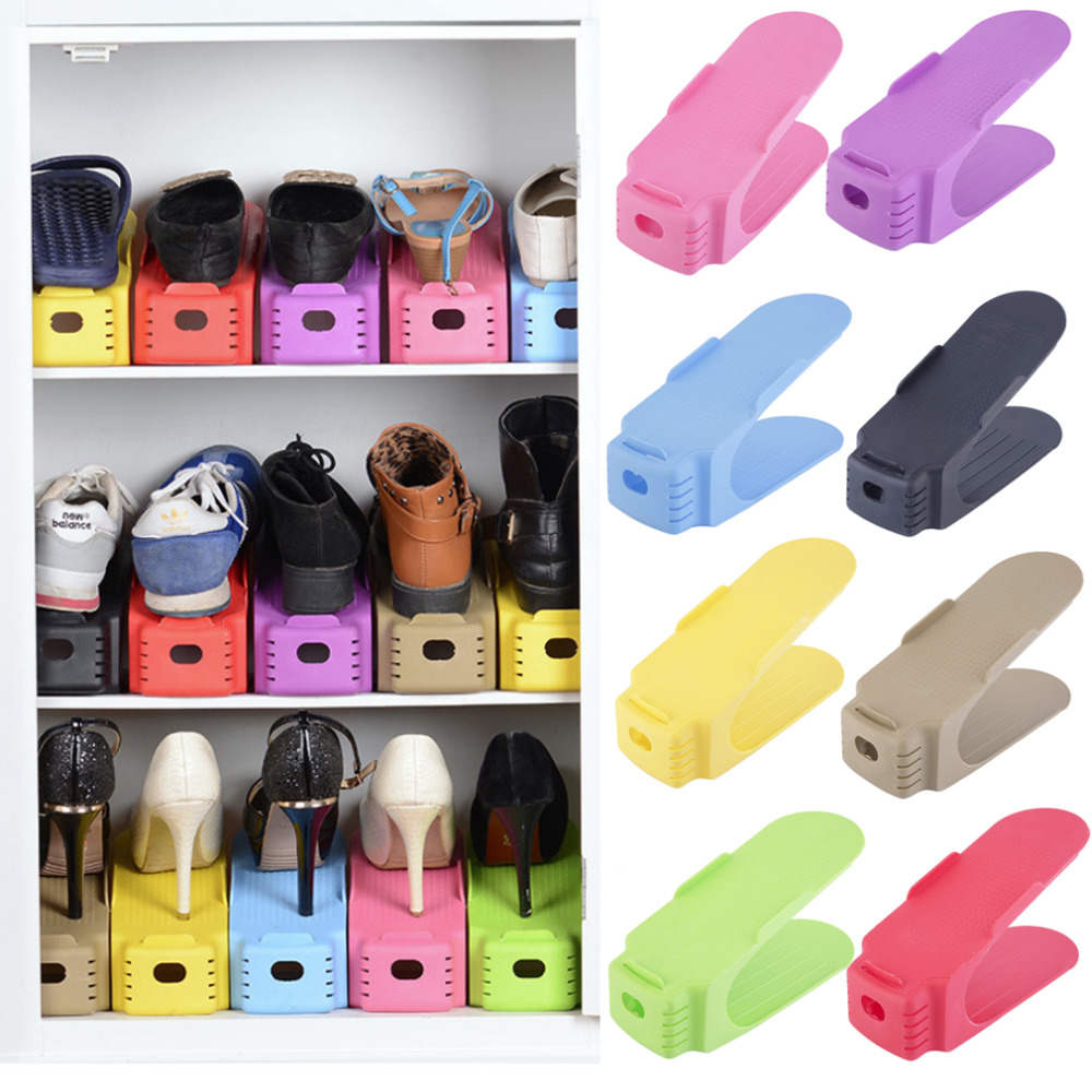 Home Use Shoe Racks Modern Double Cleaning Storage Shoes Rack Living Room Convenient Shoebox Shoes Organizer Stand Shelf(China (Mainland))