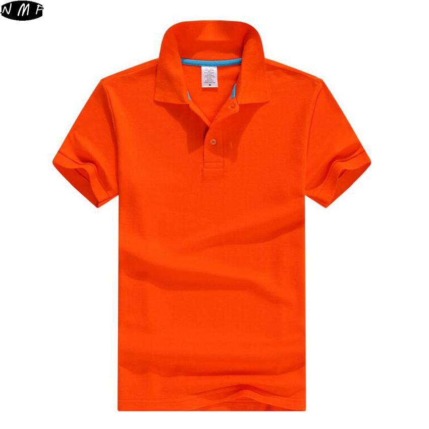 Mens Polo Shirt 2016 Summer Style Short Sleeve Soild Color