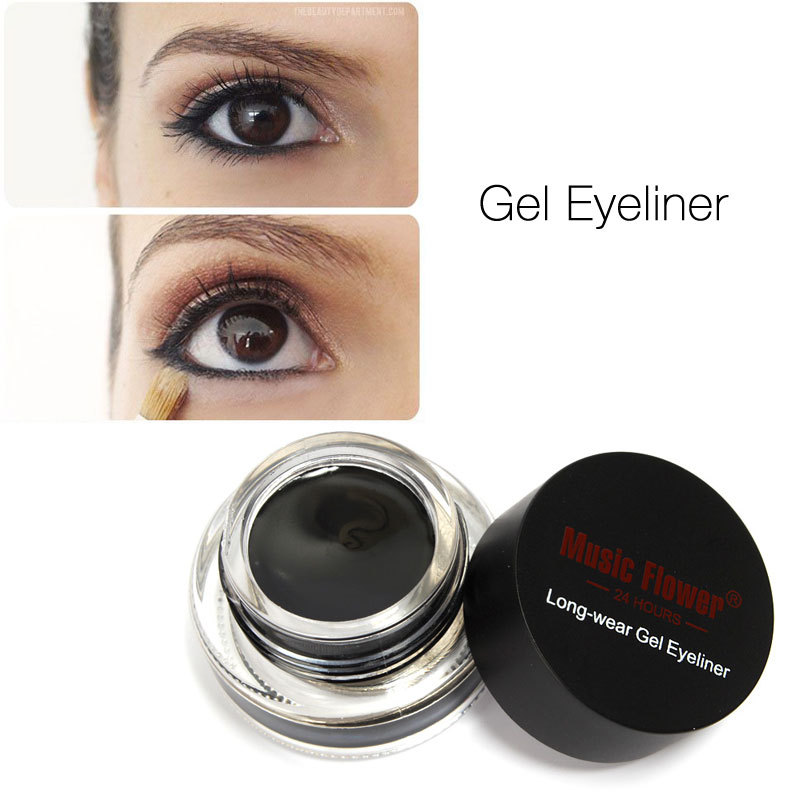 Gel Eyeliner by Music Flower Water-proof And Smudge-proof Cosmetics Set Eye Liner Kit in Eye Makeup(China (Mainland))