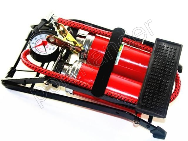 hot sell Car TWO pump air compressor Car-styling Foot Air Pump 100PSI Car Vehicle Tires Bicycle Bike Motorbike Ball Inflator