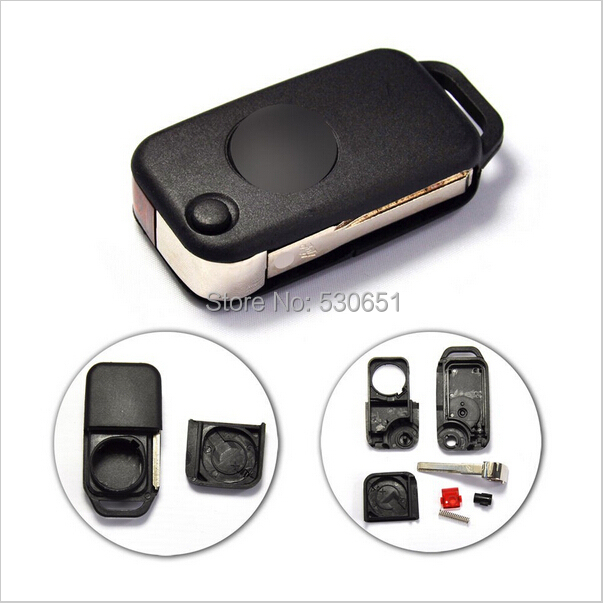 Buy remote keyless smart key fob case shell with battery for Replacement key mercedes benz