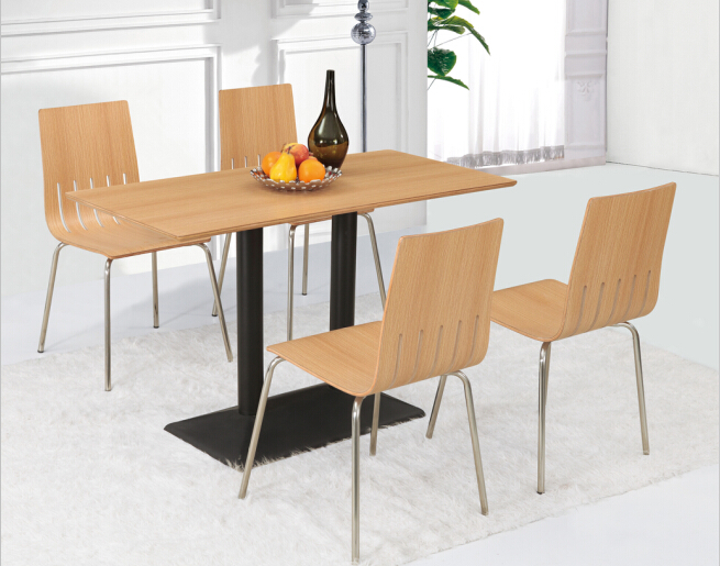 Dining table set restaurant table chair sets with 4 chairs in canteen(China (Mainland))