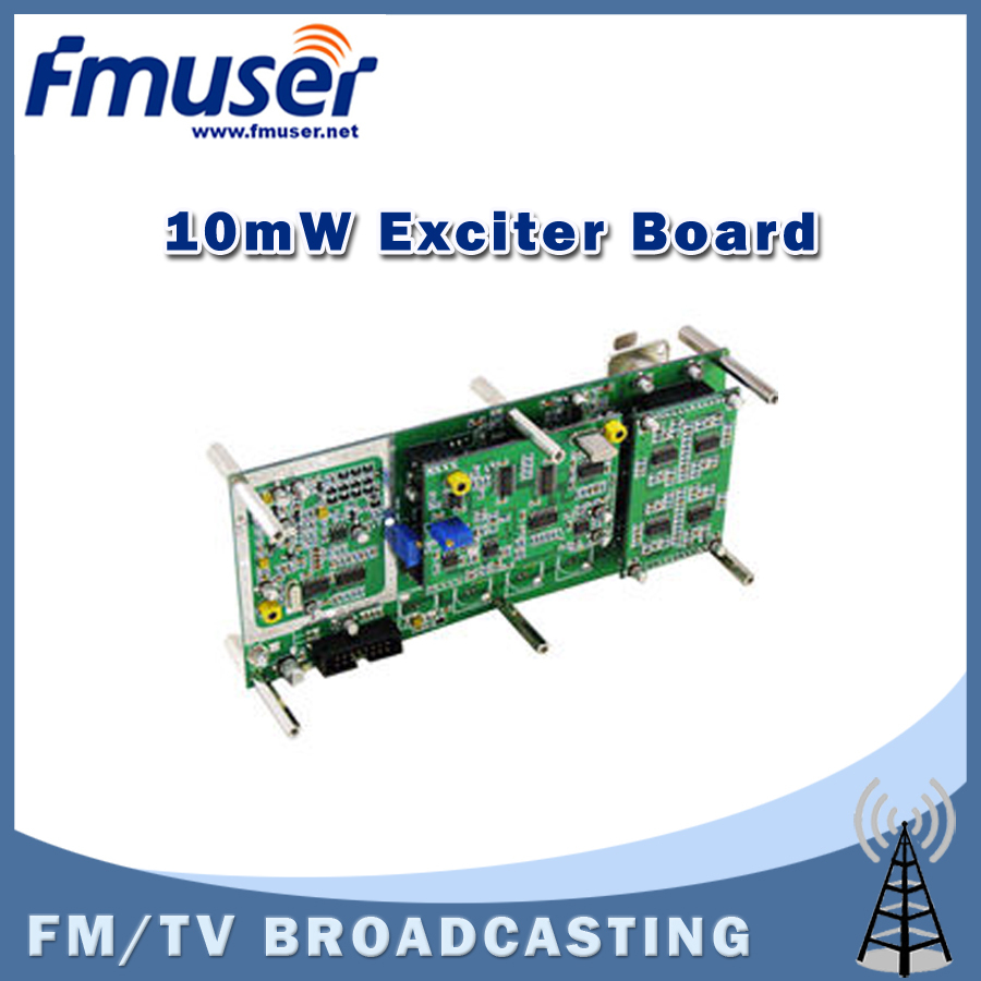 Free shipping FMUSER FU-E01 FM PLL Exciter 10 mW for FM/TV Amplifier Professional Use(China (Mainland))