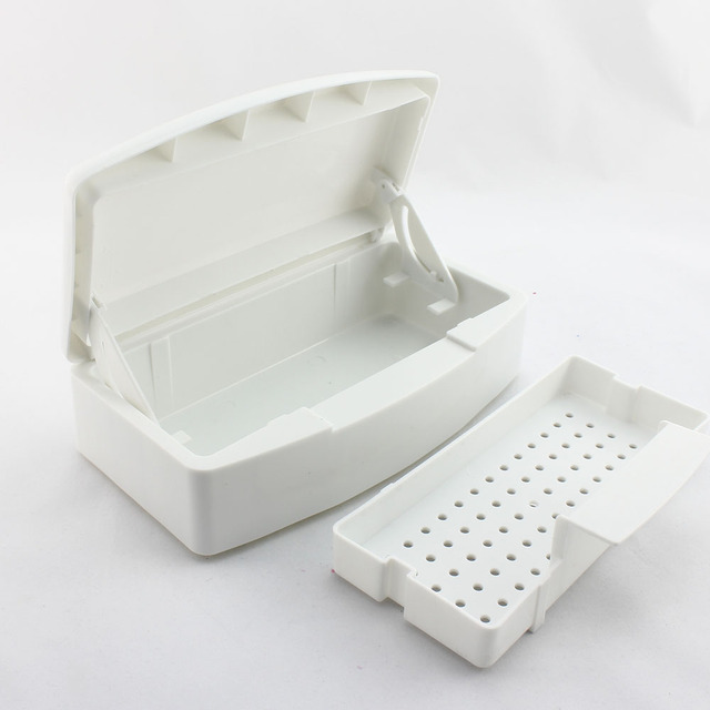 Nail Art Plastic Sterilizer Tray Box for Sterilizing Nail Art Tools Manicure Tools Dropshipping [retail] SKU:F0059