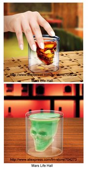 skull cup & drink glass cup free shipping by express