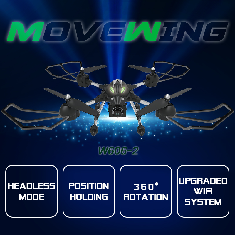 2016 Toy RC Planes W606-2 4CH 2.4G 2MP WIFI 3D Roll Quadcopter LED Plane Model Toys FPV RC Quadcopter