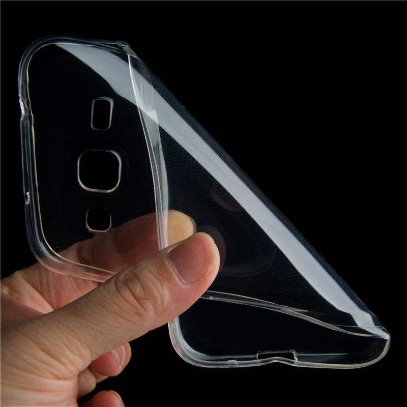 Clear TPU Gel Cover Case For Samsung Galaxy Core Prime VE Duos LTE G360H SM-G360F G361F G361H Transparent Silicone Cover Case(China (Mainland))