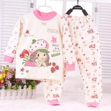 2015 New Infant Girl Clothes Boys & Girls Sleep Coats Set Baby Girl Cute Pajamas Suit Newborn Baby Girl Soft Cotton Underwear