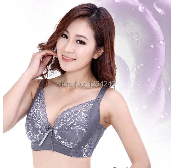 34 36 38 40 42 44 46 B C D E F cup Thin lace plus size large underwear bra full cup sexy comfortable side gathering freeshipping(China (Mainland))