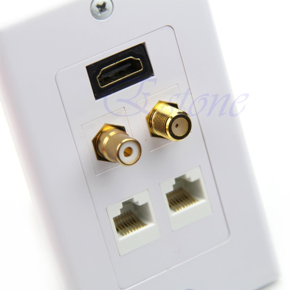 HDMI RJ45 RCA Single Wall Gesicht Tafelplatte Outlet TV -Anschluss(China (Mainland))