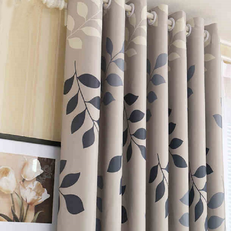 Home use blackout curtain pastoral floral printed window