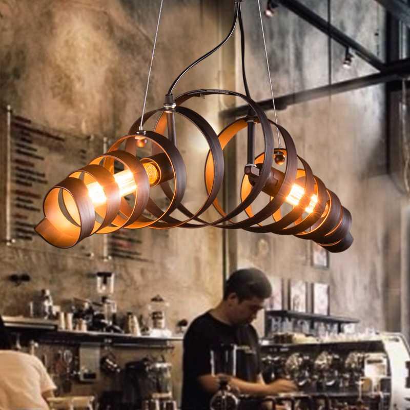 Loft Retro Vintage Pendant Lights Industrial Lustres Pendant Lamps Bar Cafe Restaurant suspension luminaire Home Lighting E27<br><br>Aliexpress