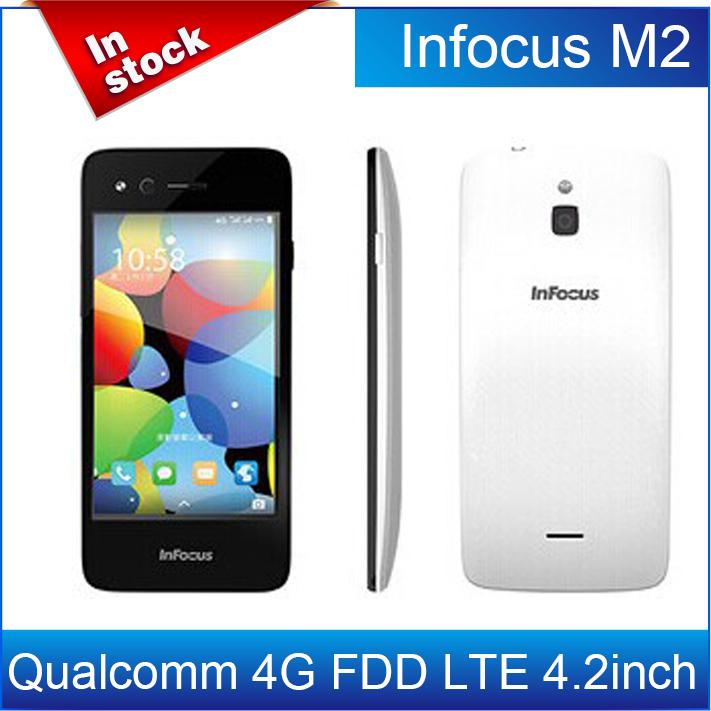 Case+film)gift!Original Foxconn Infocus M2 4G FDD LTE 4.2 Inch MSM8926 Quad Core Android 4.4 IPS 1GB/8GB 8MP 4G Cell Phone/Avil(China (Mainland))