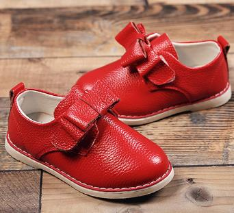 Children fashion genuine leather shoes spring 2016 girls loafers comfortable brand bowknot princess single shoes 431b<br><br>Aliexpress