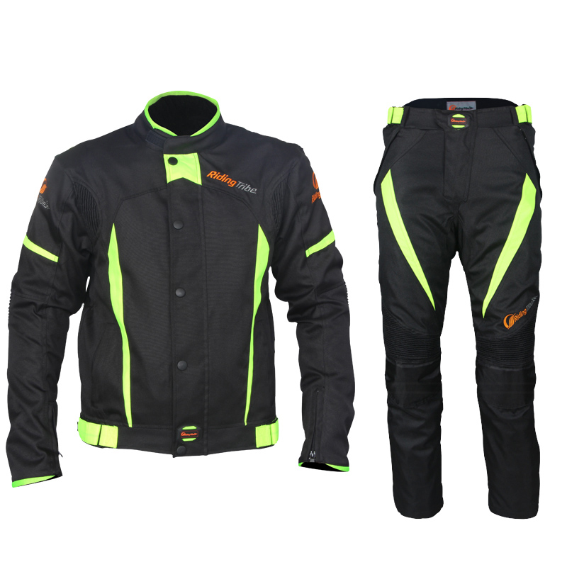 NEW ARRIVE! Riding Tribe Black Reflect Racing Winter Jackets and Pants,Motorcycle Waterproof Jackets Suits Trousers(China (Mainland))