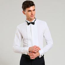 Nueva puño francés hombres camisas de vestir de manga larga para hombres camisas de esmoquin de boda para hombre camisas para hombre(China (Mainland))