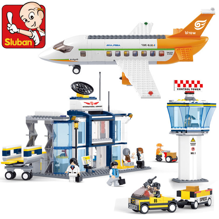 Building Block Sets Compatible lego new aviation Airport 673D Construction Brick Educational Hobbies Toys Kids