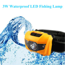 3W LED Fishing Lamp White Light + Red Light Ultralight Waterproof LED Light for Hiking Fishing Camping Outdoors Mountaineering
