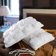 48*74cm Luxury Bread Style Rectangle Goose/Duck Feather Down Pillows White Color Down-Proof Cotton Fabric Soft Bedding Pillow(China (Mainland))