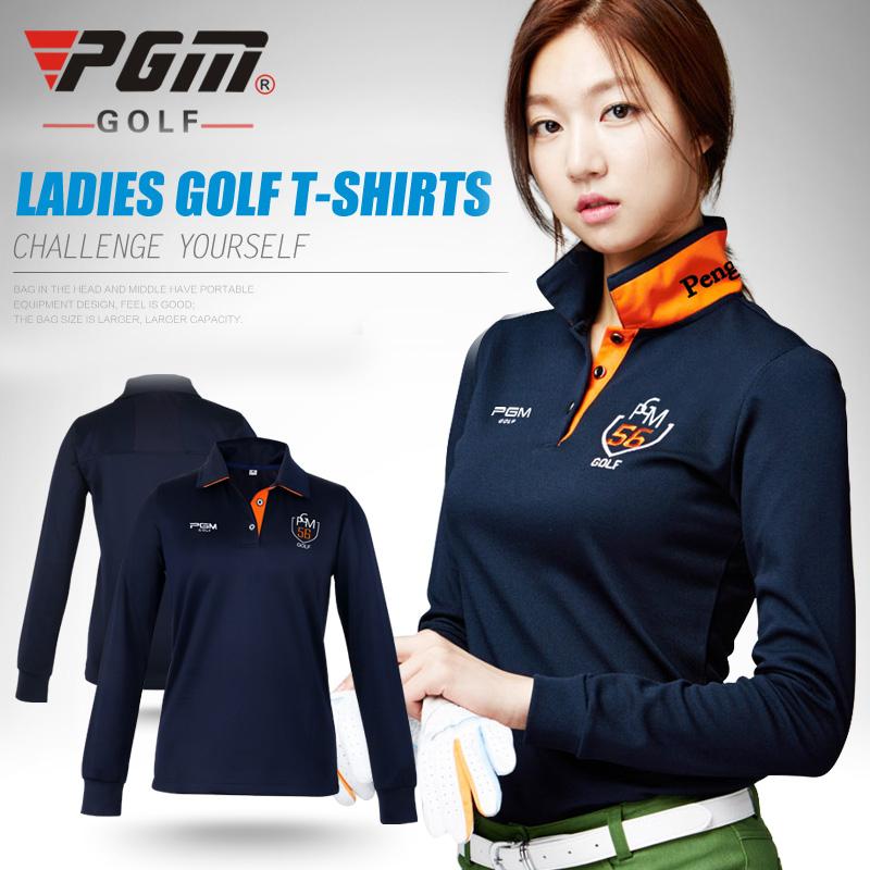 pgm golf clothes golf women's long-sleeve POLO shirt autumn and winter Korean Silk shirts(China (Mainland))