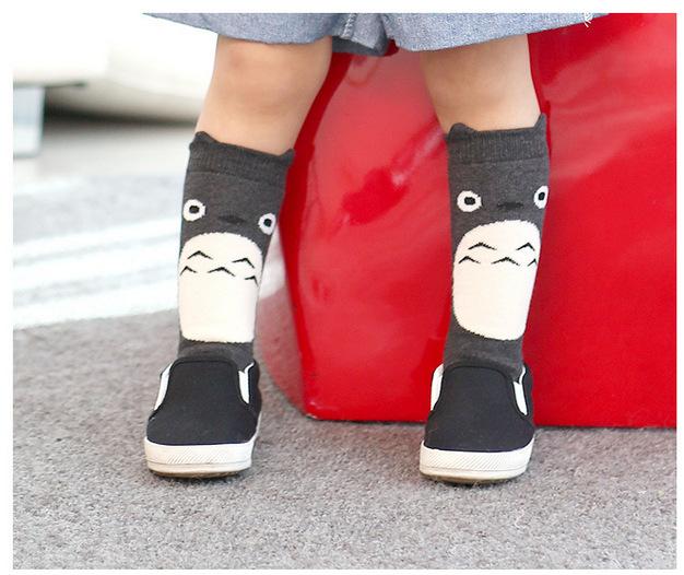 Toddler New Totoro Design Knee High Baby Socks Girls Boys Fall Winter Leg Warmers Socks Knee Pad Y061(China (Mainland))