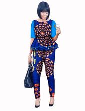 2 Piece Set Women Pant and Top African Print Pants Custom Printed Africa Women Blazer And Pants African Wax Set BrandWY492