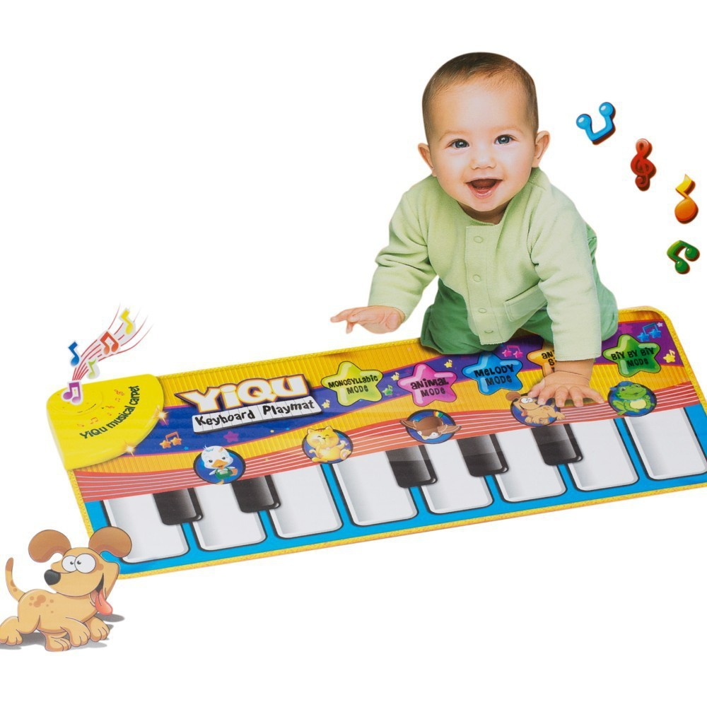 Multifunction Baby Play Music Mat Crawling Mat Touch Type Electronic Piano Music Game Mats Animal Sounds Sings Toys for Kids(China (Mainland))