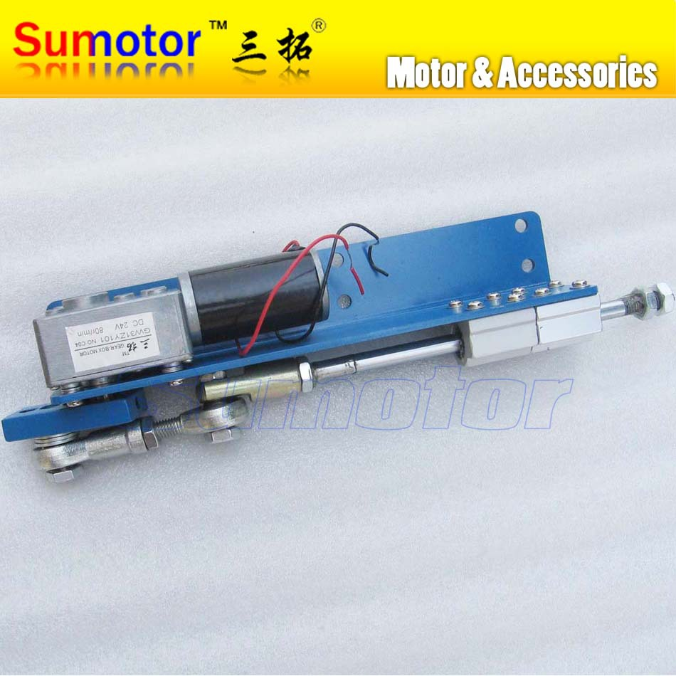 Фотография DC 12V 24V stroke 20 30 50mm Linear actuator reciprocating motor Automatic Constantly Go and back Speed variable DIY engine