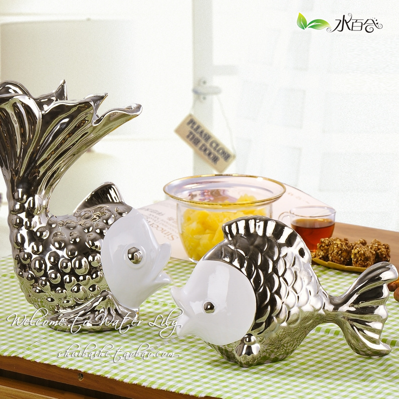 Modern Home Decoration Ceramic Gifts Crafts Silver Lovers