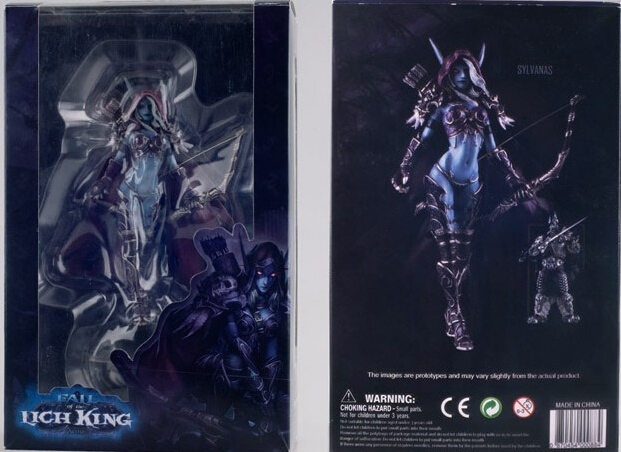 New American Anime Figure PVC Doll Boxed Toy WOW World Of Warcraft Sylvanas Windrunner Darklady The Queen Undead 15CM(China (Mainland))