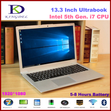 Kingdel 13.3 Inch  i7 5500u ultrabook  with 8GB RAM+128GB SSD+1T HDD 1920*1080,Metal Cover, 8 cell battery, Windows 10(Hong Kong)